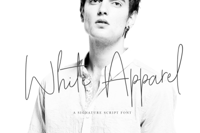 White Apparel | Script Font