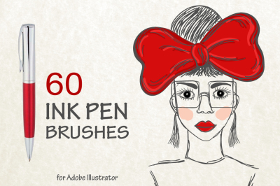 60 ink pen vector brushes