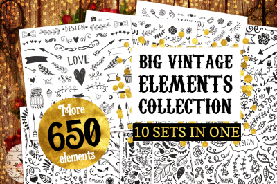 Big Vintage Bundle! 650 elements