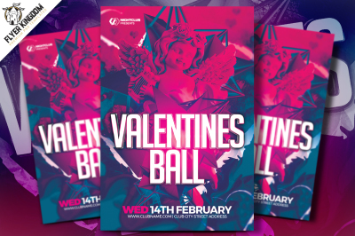 Valentine's Ball PSD Template