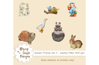Garden Friends Set 3 - Figurines isolated PNGs