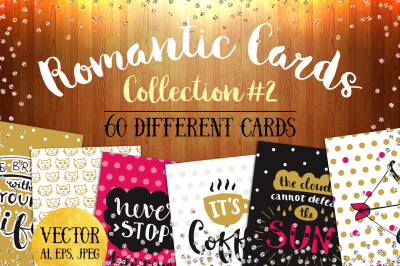 60 Romantic Wedding Cards Collection
