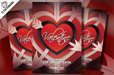 Valentine Textured Template