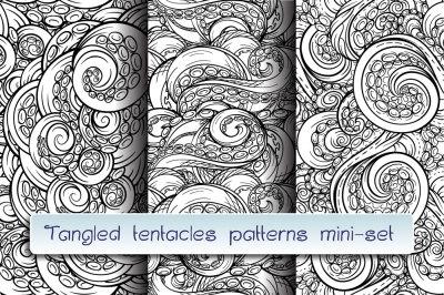 Tangles tentacles seamless patterns mini-set