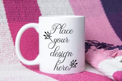 Coffee Mug mock up, feminine pink mockups, cup mock up psd template