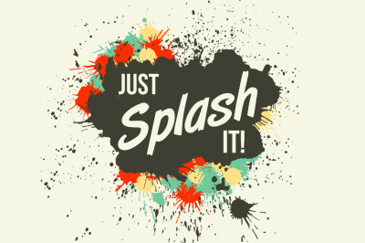 Just Splash It! Grunge vector blots