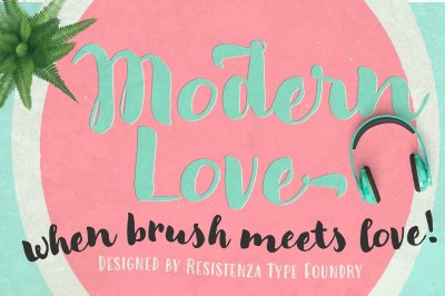 Modern Love Family - 4 Fonts