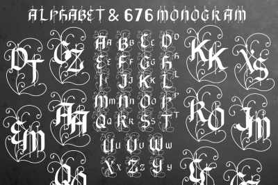 Black Arrow 676 Monogram & alphabet