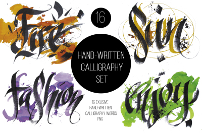 Hand-written Calligraphy Set