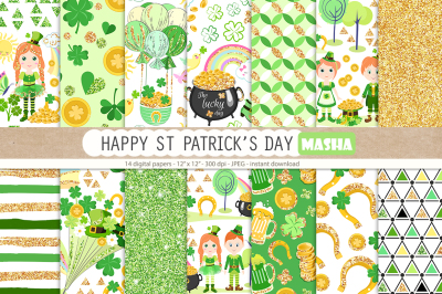 ST PATRICK'S DAY digital papers