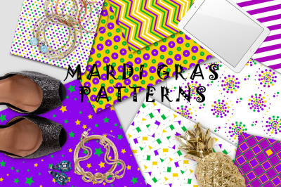 Mardi Gras Patterns set