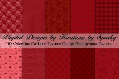 Valentine Pattern Texture Digital Background Papers