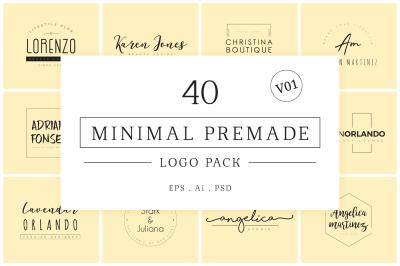 Minimal Premade Logo Bundle V01