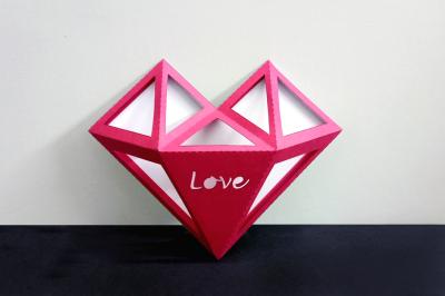 DIY Valentine's Heart - 3d papercraft