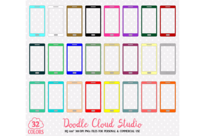 32 Colorful Cellphone Clipart Mobile telephone stickers cell phones