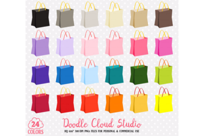 24 Colorful Shopping Bag Clipart Cute Rainbow Paper Tole bag icons