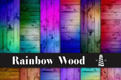 Rainbow Wood Digital Paper