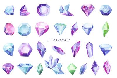 watercolor crystal
