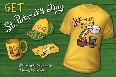 St. Patrick's day isolated set