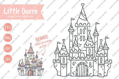 Little Queen - cutting files - Princess Castle Fairytale
