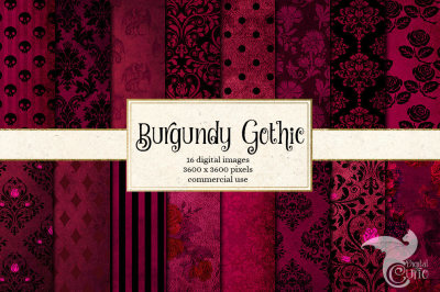 Burgundy Gothic Papers