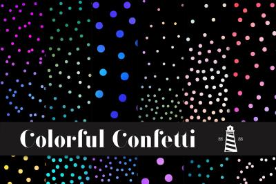Gradient Confetti Overlays