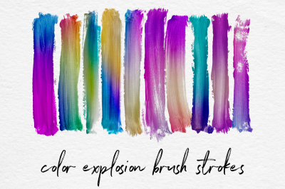 Colorful Gradient Brush Strokes