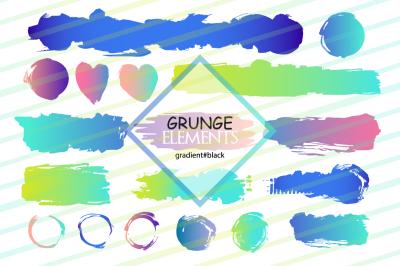 Grunge elements. Gradient.
