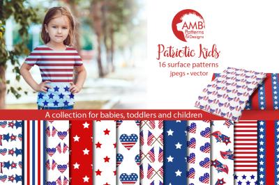 Patriotic Kids patterns AMB-1357
