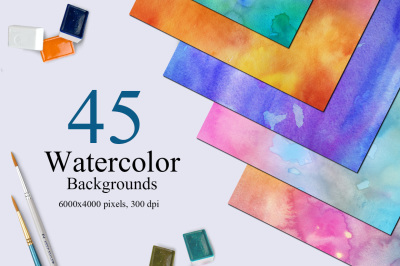 45 Watercolor Backgrounds