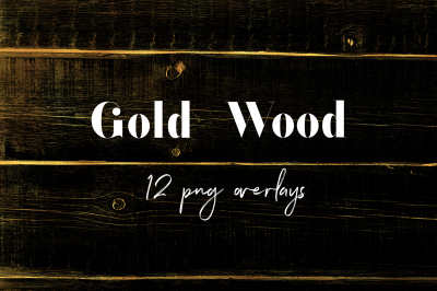 Gold Wood PNG Overlays