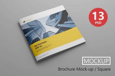 Brochure PSD Mockups / Square