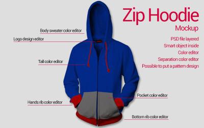 Zip hoodie mockup