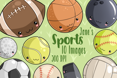 Kawaii Sports Clipart