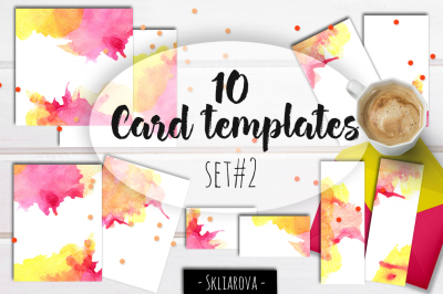 Card templates set #2