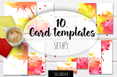 Card templates set #5