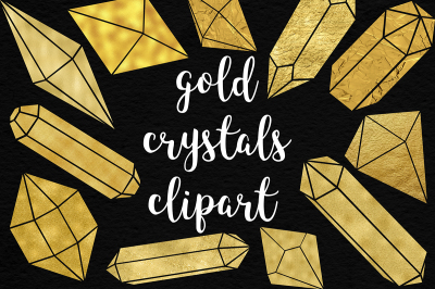 Shimmer Gold Crystals Clipart