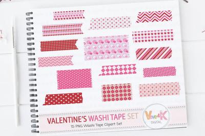 Valentine's Day Washi Tape   Valentine's Day Clipart
