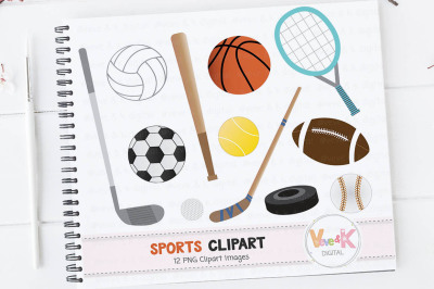 Sports Equipment Clipart | Sports Graphics
