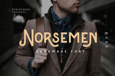 Norsemen - Handmade Font