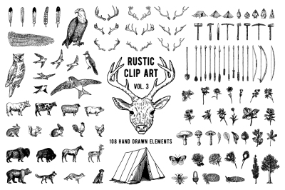 Rustic Clipart Volume 3 - AI PNG EPS