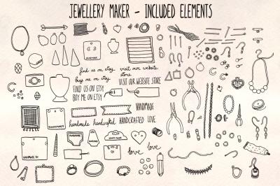 Jewelry Craft Vector Sketch Bundle