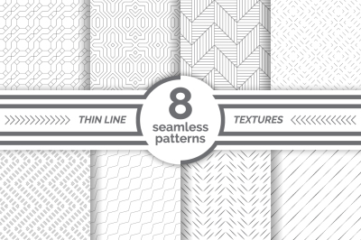 Modern thin line seamless patterns