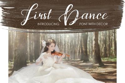 First Dance - font
