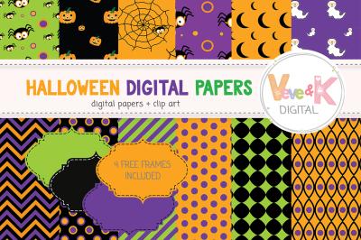 Halloween Digital Papers   Halloween Backgrounds