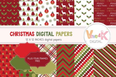 Christmas Digital Papers | Christmas Patterns