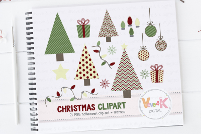 Christmas Clipart Pack | Christmas Tree Clipart