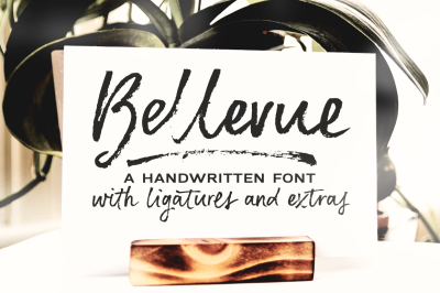 Bellevue | a brush font