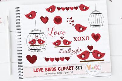 Valentine's Clipart | Love Birds Clipart Images