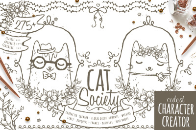 Cat Society - Character Creator Kit